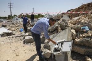 israel demolished covid testing center in hebron