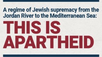 This is apartheid: Jewish supremacy from the River to the Sea