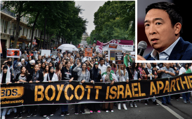 Andrew Yang listens to Israel partisans, condemns BDS – let's change his mind!
