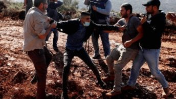 Israeli settlers, military disrupt Palestine TV filming settlement activities in West Bank
