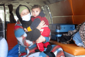 palestinian child with cancer travels for treatment