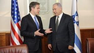Antony Blinken with Netanyahu. Congress sent Blinken a letter about Israeli policy