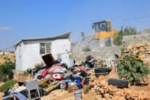a demolished home in masafer yatta