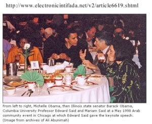 barack obama with edward said, 1998