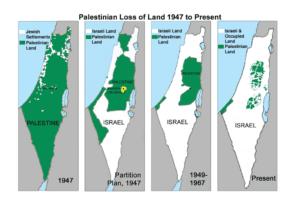 Shrinking Palestine maps