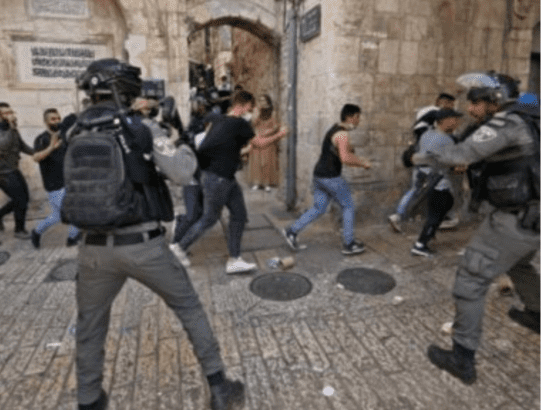 Monday: Israeli military aggression in Jerusalem continues, medics denied access