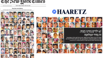 NY Times & Israeli paper feature photos of all 67 Palestinian children killed in Gaza