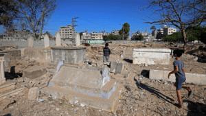 gaza children in cemetery