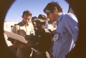 The Red Cross visits the Israeli detention center, Abu Zenima, in October, 1971.