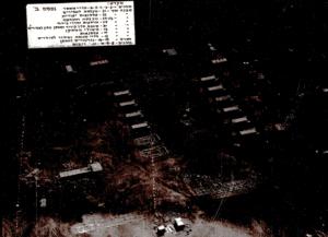 An aerial photograph of the Israeli detention center, Nekhel, 1971.
